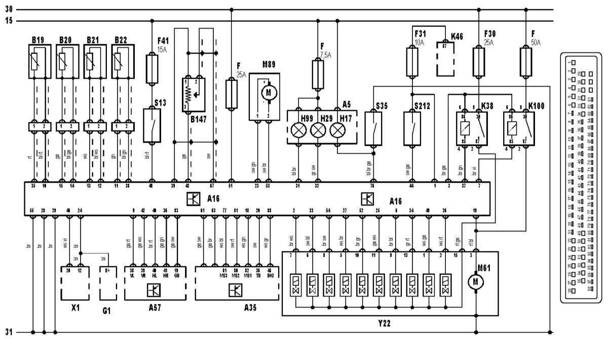 блок предохранителей бмв х5 е53 схема
