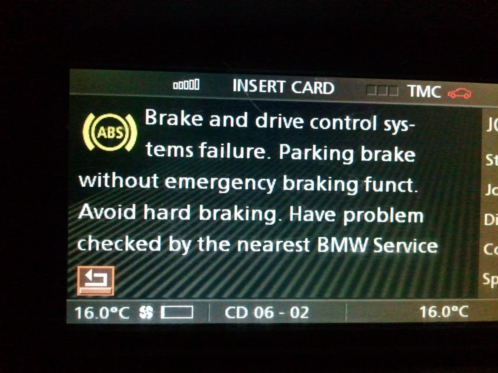 вмв х5 схема ошибок brake abs