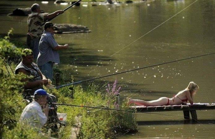 с возвращающимися рыбаками