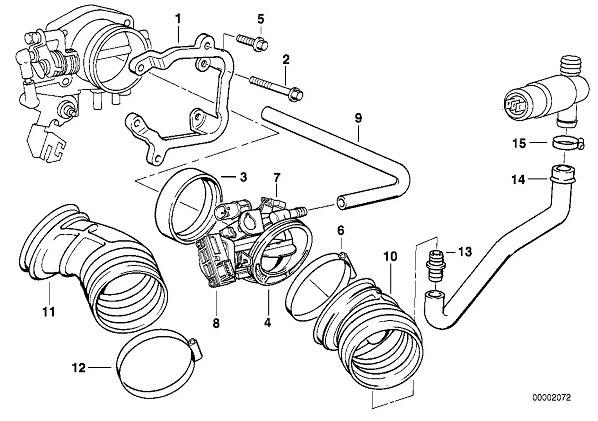 Бмв 525 е39 двигатель схема