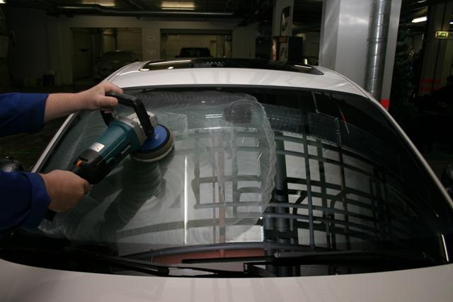 Отполировать лобовое стекло своими руками